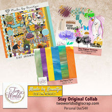 Load image into Gallery viewer, Stay Original Digital Scrapbooking Bundle - 2Worlds Digi Scrap Supplies