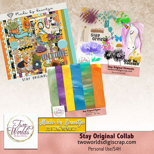 Stay Original Digital Scrapbooking Bundle - 2Worlds Digi Scrap Supplies