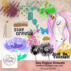 Stay Original Elements - 2Worlds Digi Scrap Supplies