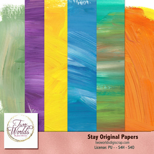 Stay Original Papers - 2Worlds Digi Scrap Supplies