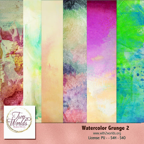 Watercolor Grunge Textures 2 - 2Worlds Digi Scrap Supplies