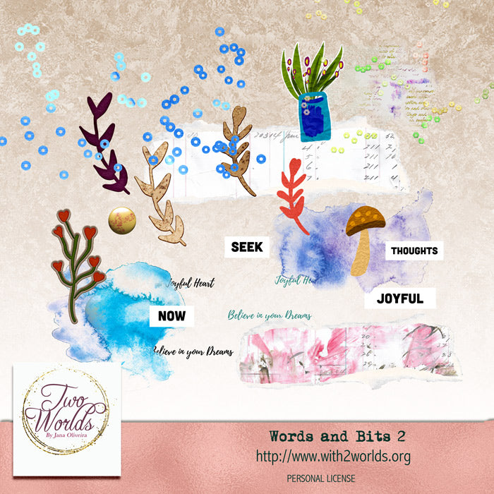 Words and Bits 2 - 2Worlds Digi Scrap Supplies