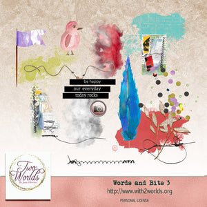 Words and Bits 3 - 2Worlds Digi Scrap Supplies