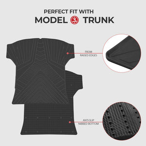 Waterproof Trunk Mat Environmental Materials for Tesla Model 3