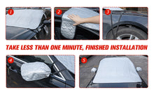 Load image into Gallery viewer, BougeRV Windshield Snow Cover with Mirror Covers & Hooks, Car Windshield Ice Cover Sun Shade Fits for Tesla Model 3 2017-2020 Model Y 2020 and Most Cars, Trucks, Vans and SUV