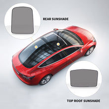 Load image into Gallery viewer, Glass Roof  & Rear Window Sunshade UV Protection For Tesla Model 3 (2 of Set) (Roof & Rear)