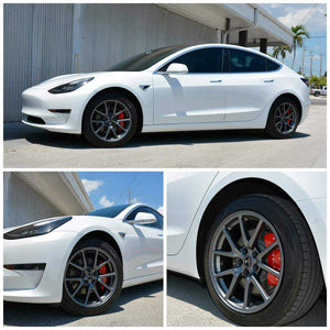 Wheel Hub Center Caps & Nut Protector Caps for Tesla Model 3 - US ONLY