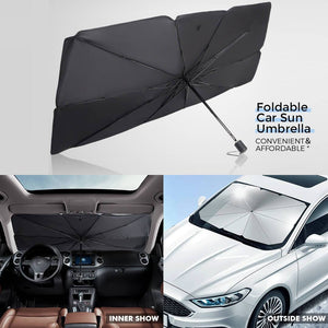 Car Windshield Sun Shade Umbrella, Foldable Car Sun Umbrella Block UV