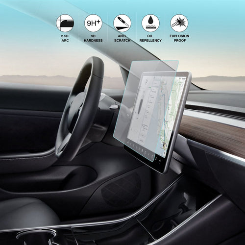 9H Tempered Glass Screen Protector for Tesla Model 3