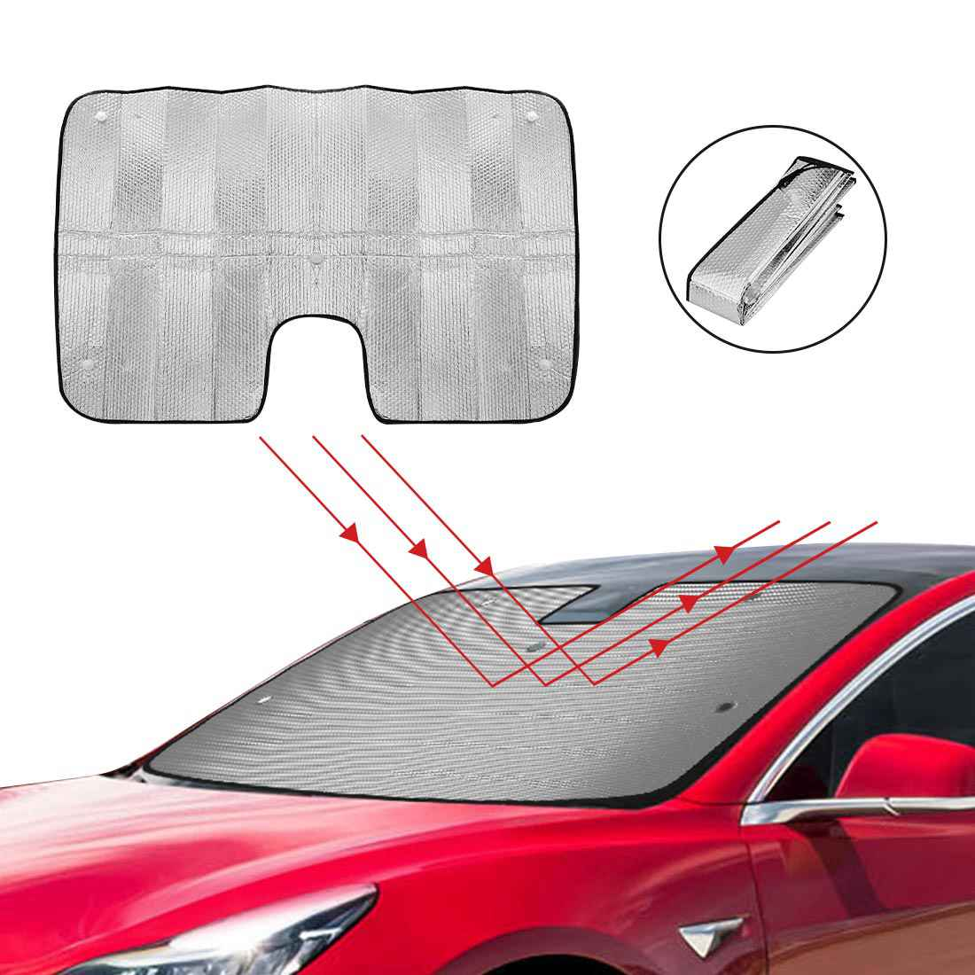 Sunshade, Heatshield, Windshield for Tesla Model 3-ONLY AVAILABLE IN THE CA
