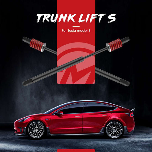 2 Pack Automatic Trunk Lift Support Set for Tesla Model 3 Trunk Struts Kit with Gas Spring and Stainless Steel Washer