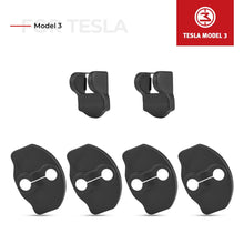 Load image into Gallery viewer, Stainless Steel Car Door Lock Latches Cover Protector for Tesla Model 3 - Available in US & Canada