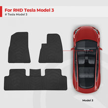 Load image into Gallery viewer, for RHD Tesla Model 3 All-Weather Floor Mats