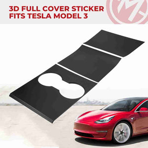 Center Console Wraps Kits for Tesla Model 3 & Tesla Model Y, Hard Plastic Stickers - Available for US & Canada
