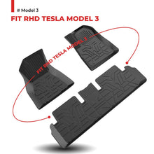 Load image into Gallery viewer, RHD Custome-designed All Coverage Floor Mats for Tesla Model  3, Perfect fit for United Kingdom Tesla Model 3