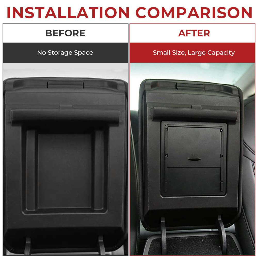 Hidden Armrest Storage Box for Tesla Model 3 (2 colors) - not available in the EU