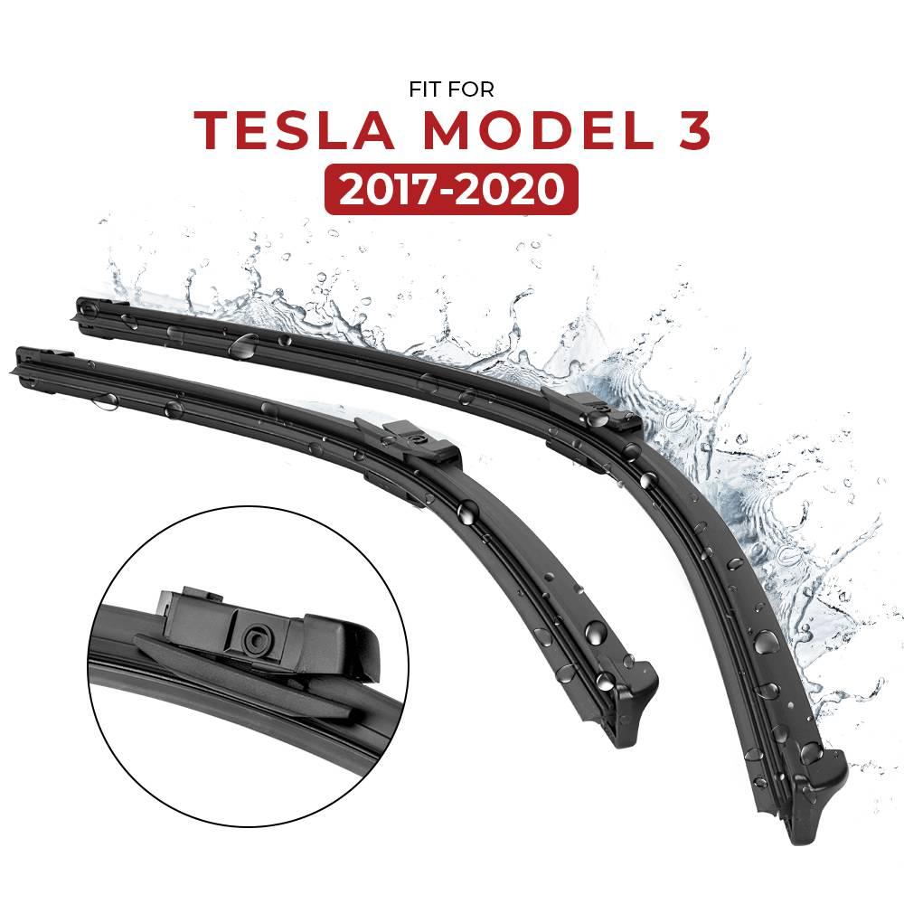Windshield Wiper Blades for Tesla Model 3 (Set of 2) - only available in the US