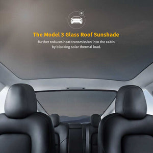 Glass Roof  & Rear Window Sunshade UV Protection For Tesla Model 3 (2 of Set) (Roof & Rear)