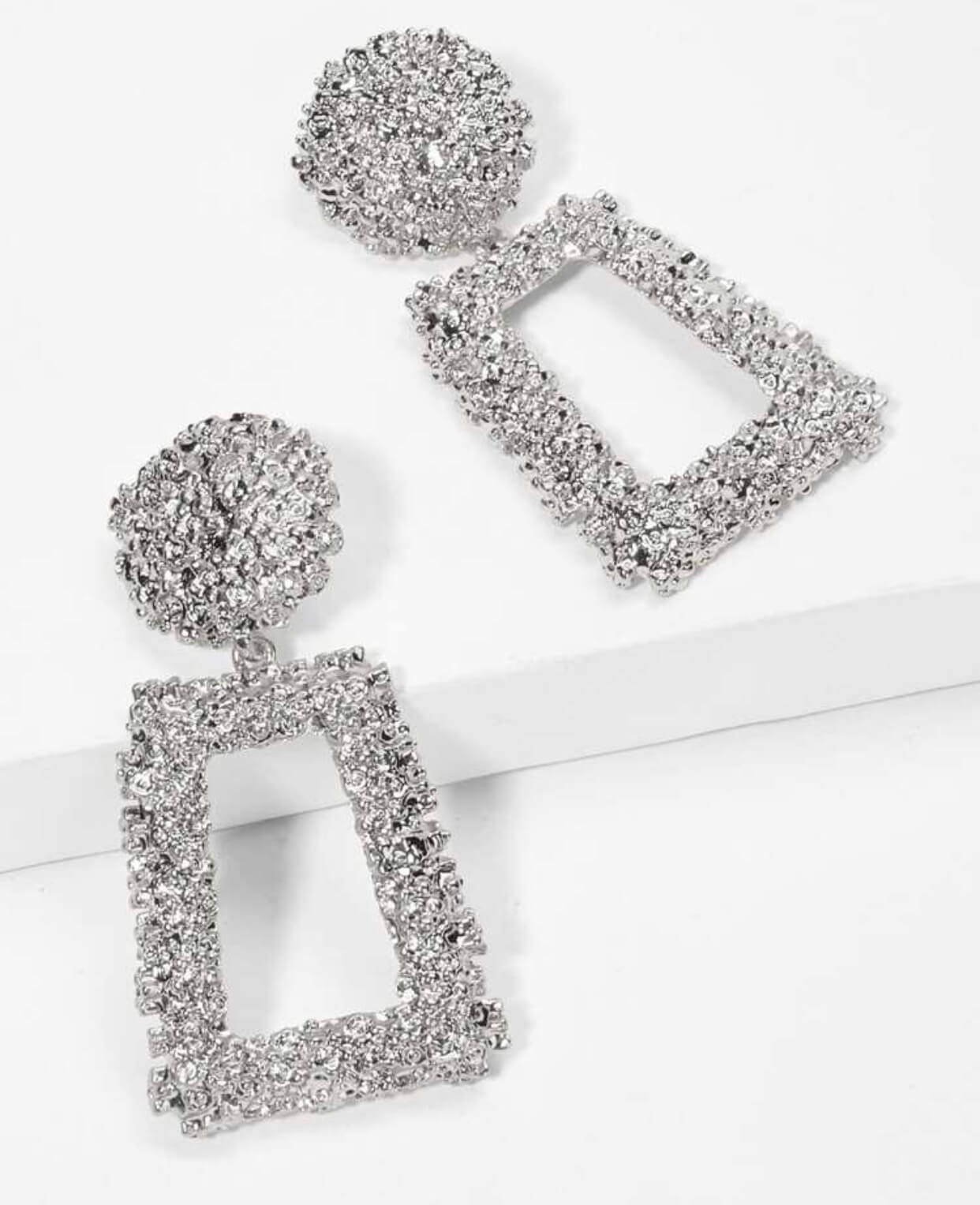 Giselle Chunky Earrings- Silver