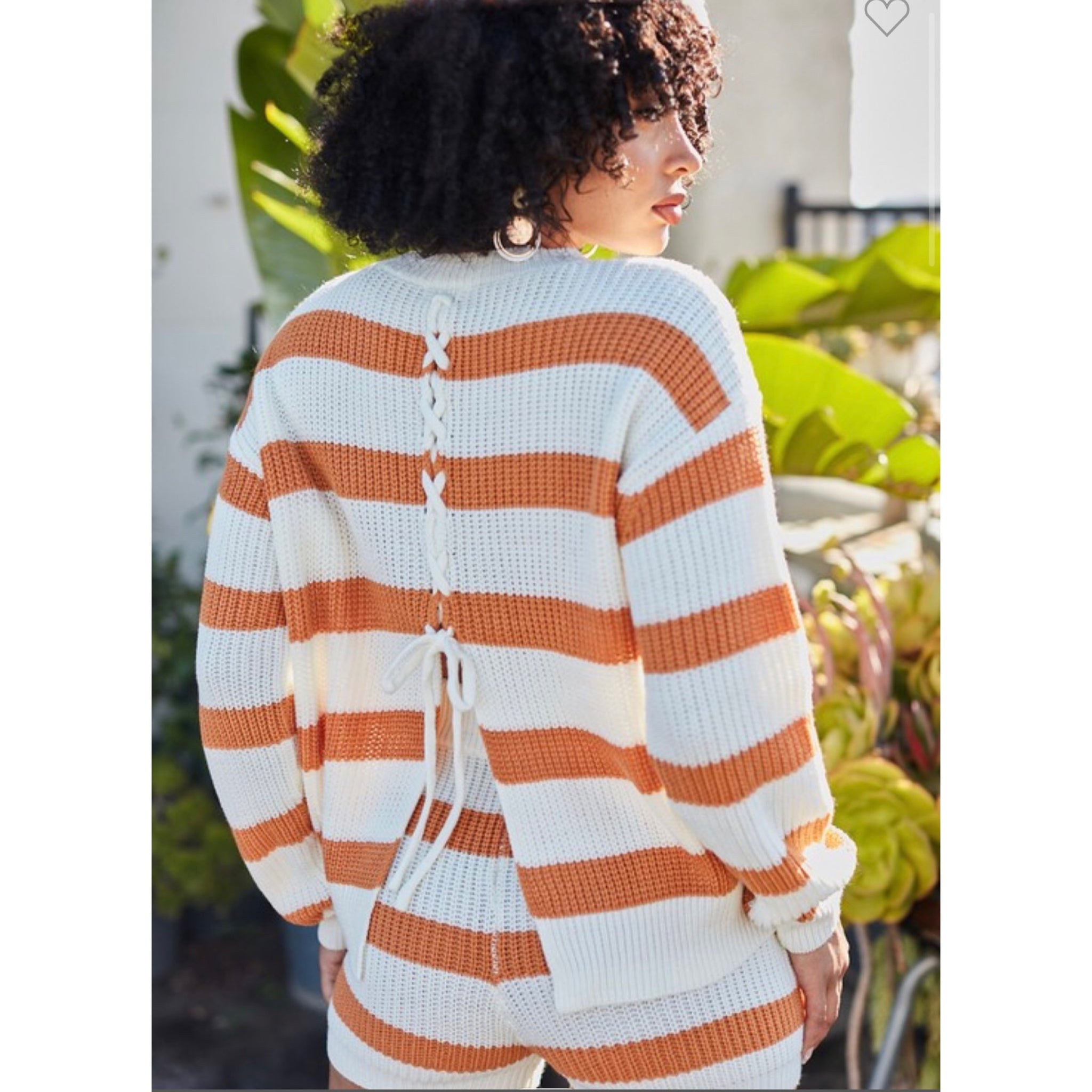 Essential Fall Knit 🧶 Short Set - Orange