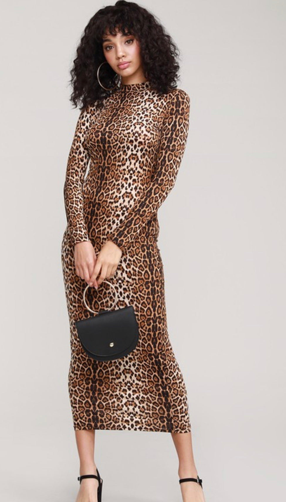 Wild Thing Leopard Midi Dress