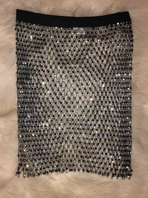 Rhinestone Skirt  Cover Up