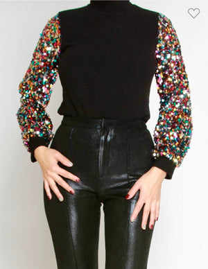 Give Me The Deets -Sequin Top
