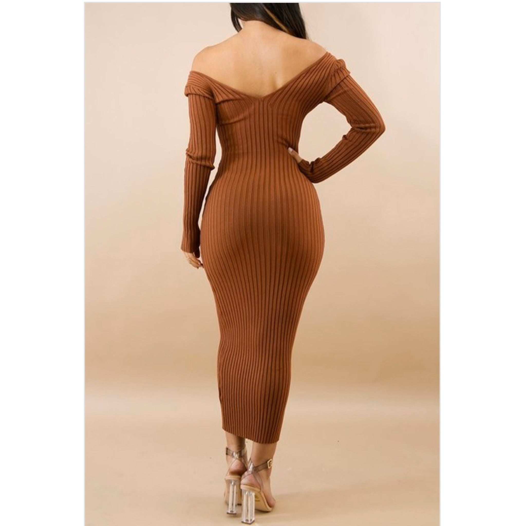 RYANNE - RIBBED MIDI DRESS