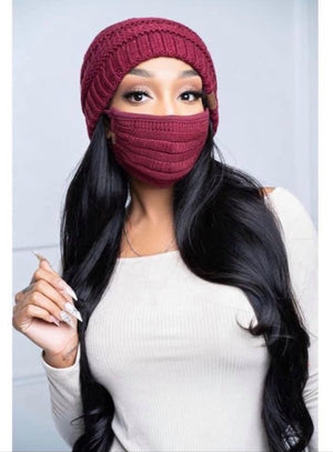 Essential Face Mask - Burgundy