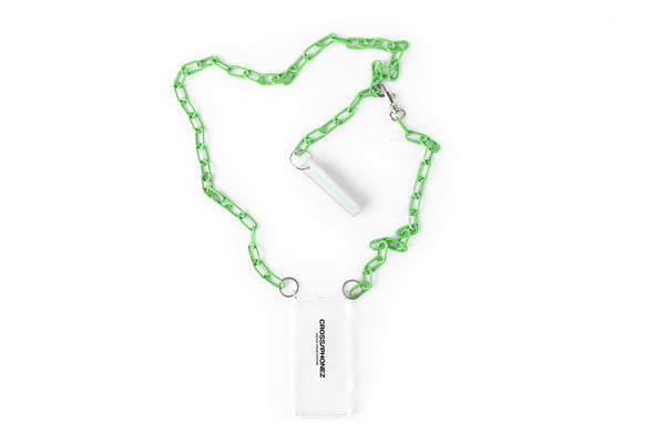 CROSSPHONE NEON GREEN CHAIN