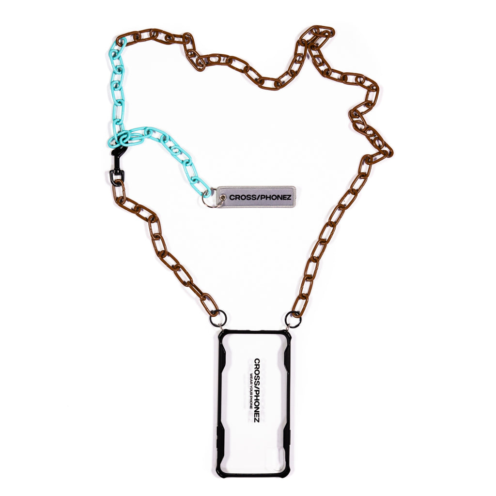 CROSSPHONEZ BROWN AND MINT CHAIN