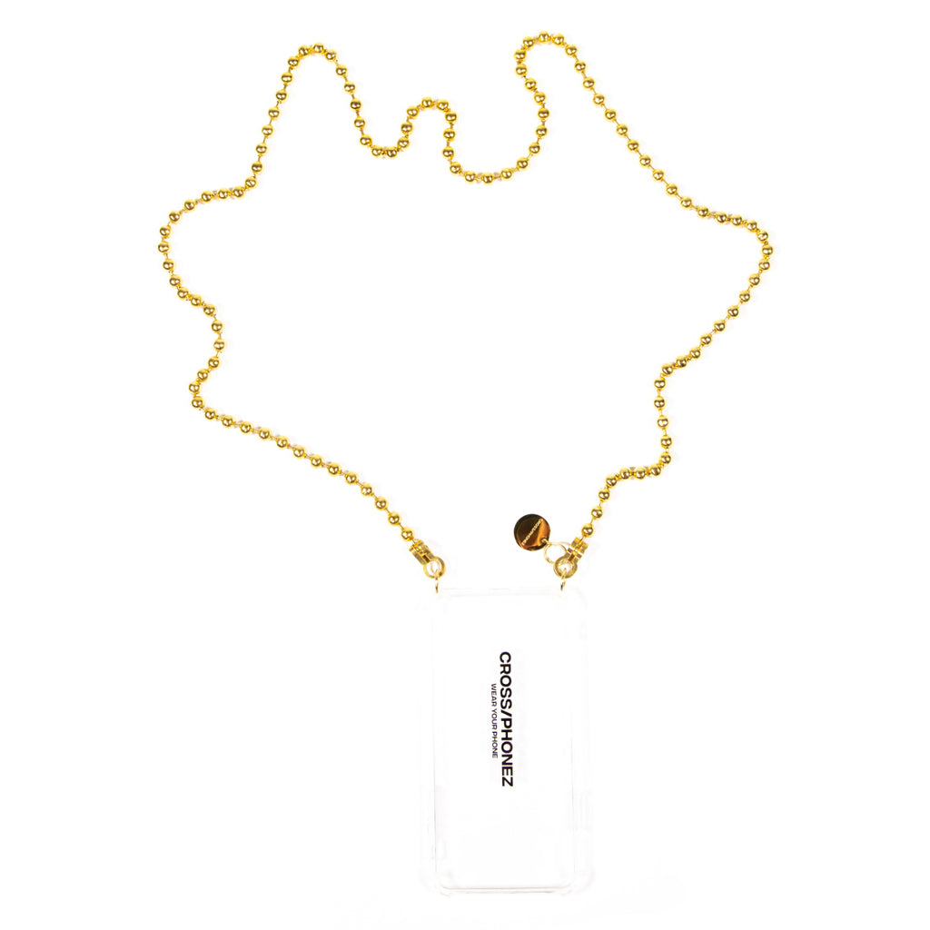 CROSSPHONE BALL CHAIN GOLD