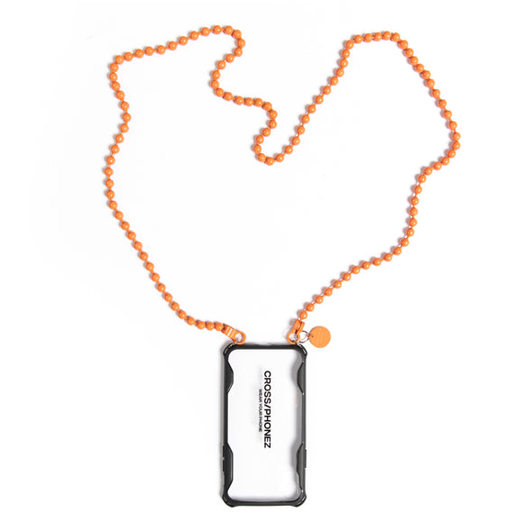 CROSSPHONEZ ORANGE BALL CHAIN