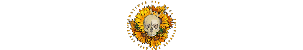 neoskull sunflower skull sunshine