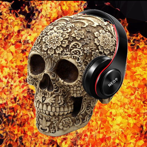 skull shaped headphone stand neoskull shop