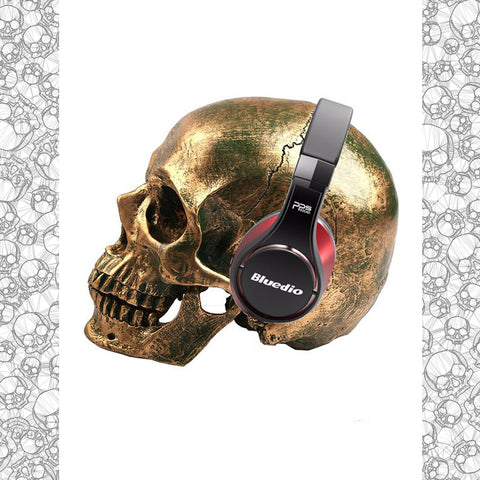 Bronze Skull Headphone stand