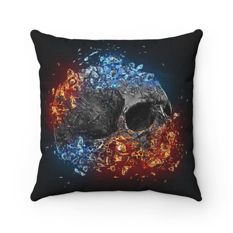 Obsidian Shards Skull 3 of 3 Square Pillow - NeoSkull