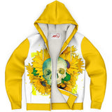 Skull and Sunflowers Sherpa Hoodie - NeoSkull