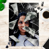 Personalized Broken Glass Jigsaw Puzzle - NeoSkull