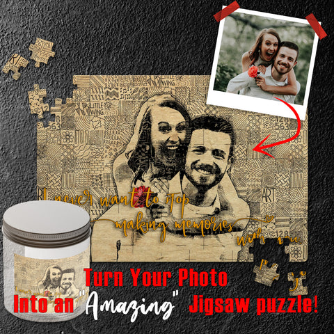 Precious Memories Personalized Jigsaw Puzzle - NeoSkull