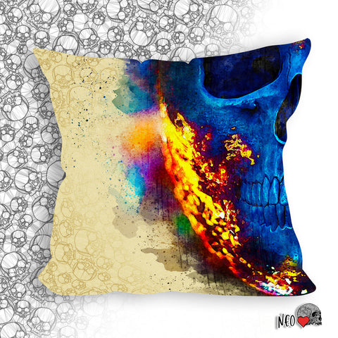 Colors of Darkness Pillow - NeoSkull