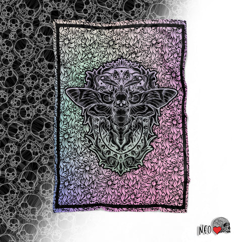 Death Moth Pastel Goth Fleece Blanket