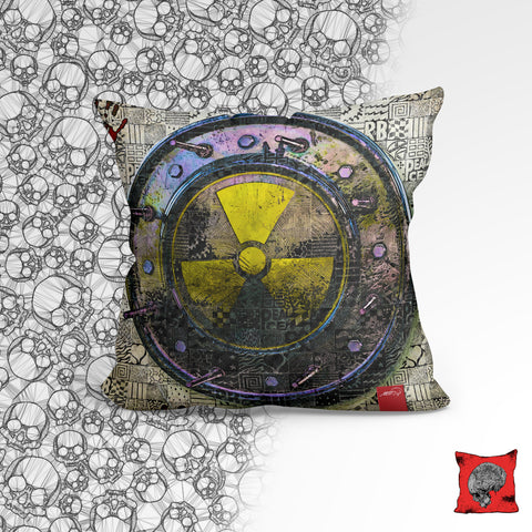 Nuclear Shield Post Apocalyptic Pillow, Pillow Fight Heroes - NeoSkull