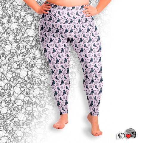 Lyrical Raven Pastel Goth Plus Size Legging