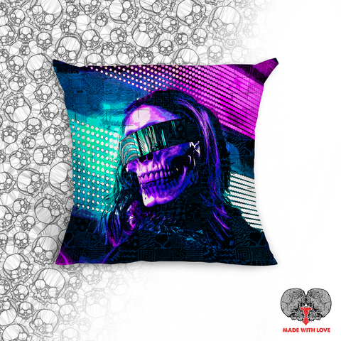 Prospection Throw Pillow - NeoSkull