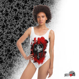 Red Dragos Cross One-piece Swimsuit - NeoSkull