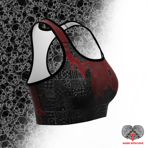 Goth Ruby Sports Bra - NeoSkull