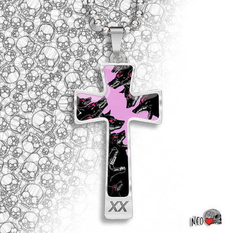 Wolf Pack Cross Necklace - NeoSkull