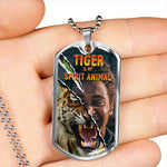 Tiger Inside Dog Tag Necklace , Personalized Photo - NeoSkull