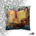 Dragon Slayer's Book Throw Pillow - NeoSkull